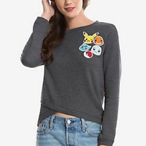 Pokémon   gray Pokémon oversized sweatshirt